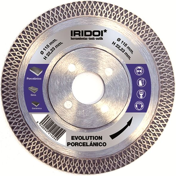 DISCO DIAMANTE EVOLUTION PORCELANICO 115 Ø 22,23 MM